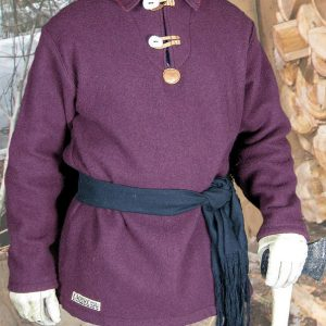 Burgundy Wool Blanket Shirt