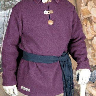 Burgundy Wool Blanket Shirt