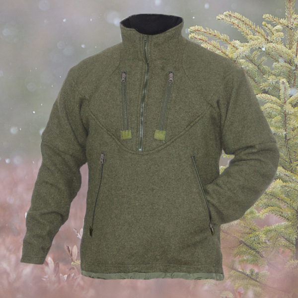 Wool Pullover Longhunter Shirts. The Longhunter shirts are made in the traditional long pullover style. The length of this shirt will keep you warmer than a shorter shirt because it covers more of your body.