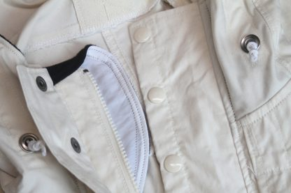 Parka zipper and flaps