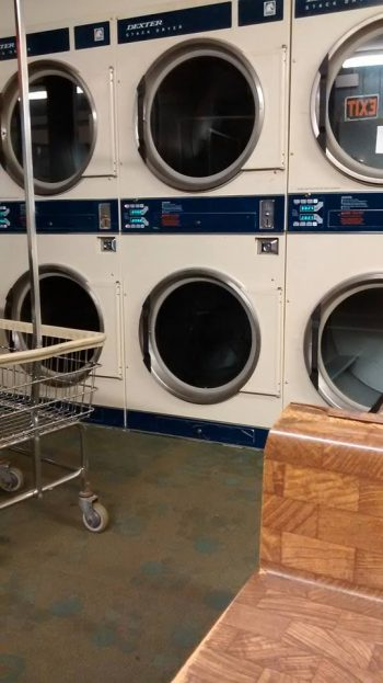 Industrial driers at our favorite laundromat