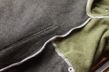 Inner seam on wool Jackpine Vest