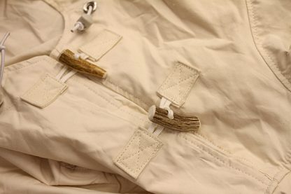 Antler Toggles on the neck gusset of the Traditional Arctic Anorak